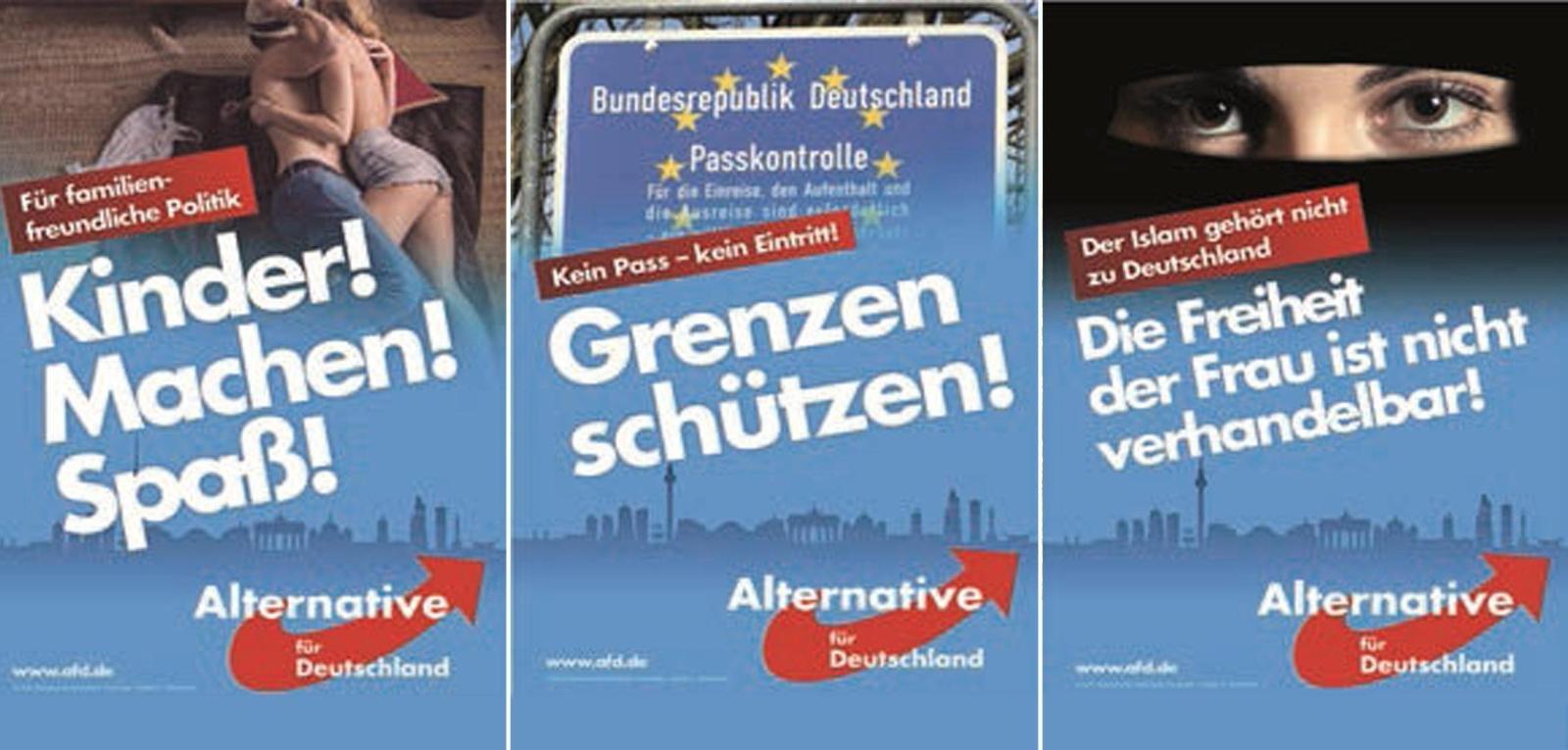 AfD Plakatmotive Wahlkampf Bayern